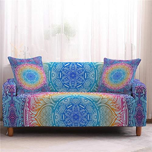 Fundas Decorativas para Sofas 1/2/3/4 Plazas Fundas De Sofá para Sala De Estar Protector De Muebles Mandala Funda De Sofá para Silla-1-Seater_Color1