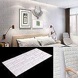 BALLSHOP 10 Tlg 77x70cm Tapete Selbstklebend Wandpaneele Wandverkleidung Steinoptik 3D Weiß PE-Schaum Wasserdicht Schnelle und Leichte Montage für Schlafzimmer Wohnzimmer Balkon Küchen
