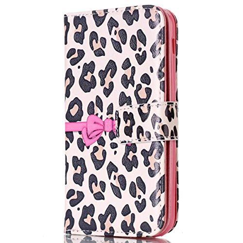 Surakey Cover iPhone X, Flip Libro Custodia Magnetica Portafoglio Wallet Case con 9 Tasche per Carte Antiurto TPU Bumper Funzione Stand Protettiva Cover in Pelle per iPhone X,Bowknot