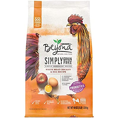 Purina Beyond Grain Free, Natural Dry Dog Food, Grain Free White Meat Chicken & Egg Recipe - 3 lb. Bag