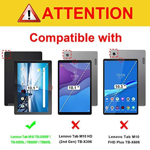 Fintie Hülle für Lenovo Tab M10 (TB-X505F / TB-X505L / TB-X605F / X605L) - Ultradünne Superleicht Schutzhülle mit Standfunktion für 10.1