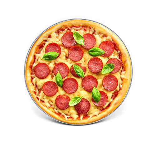 10 Inch Pizza Pan, E-far Stainless Steel Pizza Pie Pan