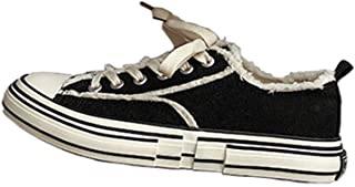XUJW-Shoes, Summer Casual Sneakers for Men Outdoor Walking Low Top Cloth Shoes Lace up Canvas Shoes Strong Antislip Outsole Durable Walking Travel Classic Soft (Color : Black, Size : 6 UK)