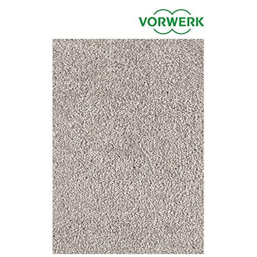 Vorwerk vlakpolig tapijt eenkleurig in lichtgrijs woonkamer 120/170 cm turquoise