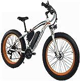 Bicicleta electrica 1000W Bici eléctrica 48V 13AH Hombres Bicicleta de montaña 26 'Bicicleta de bicicleta de bicicleta de neumático gordo / bicicleta de nieve con frenos de disco hidráulicos dual y te