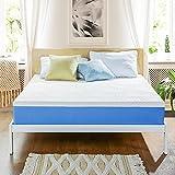 Olee Sleep 10 Inch Ventilated Gel Infused Memory Foam Mattress, CertiPUR-US Certified, Blue, Twin