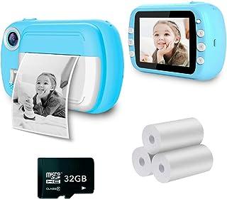 i-Paint P9 - Macchina fotografica istantanea per Bambini, Stampa B/N su carta termica, Fotocamera 1080P Videocamera Digita...