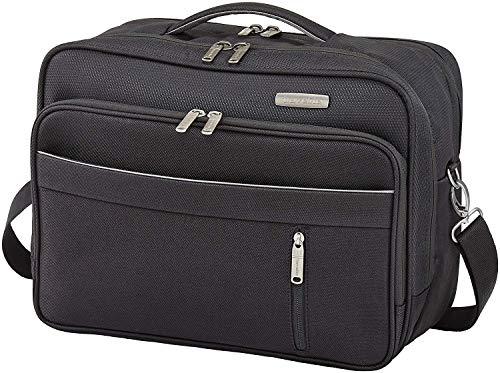 Travelite Capri Bordtasche Querformat, Schwarz, 89804-01 Hand Luggage, 38 cm, 20 liters, Black (Schwarz)