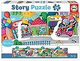 Educa 18901 Didacta Story Vehículos en la Ciudad. Puzzle Panorámico Infantil. 26 Piezas. +3 años. Ref, Multicolor