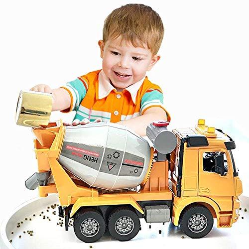 Bleyoum Vehículo de construcción Simulación De Gran Tamaño Camión De Cemento Mezclador Vehículo De Juguete Modelo Inercia Ingeniería De Hormigón Camión Cisterna Volquete Regalo para Niños