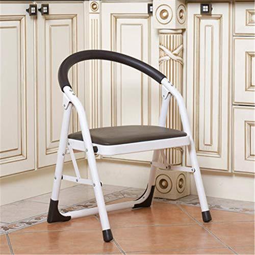 KNJF Leichter Klappstuhl Single Layer Startseite Leiter Stuhl Faltbare Bürostuhl verdickte Freizeit-Stuhl (Color : C2, Size : As Shown)