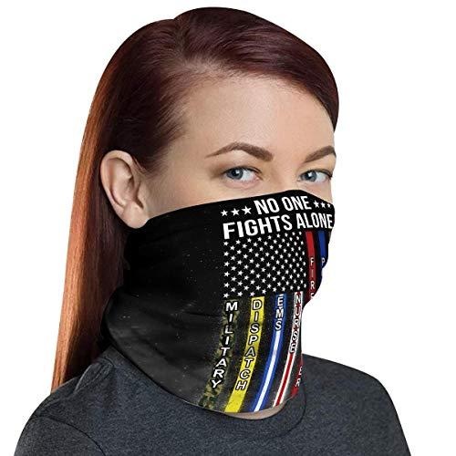 VTH GLOBAL Pack 2 First Responder UV Face Shield Neck Gaiter Camouflage Bandana Balaclava Mask for Men Women Summer Sun Dust Protection (First Responder Flag)