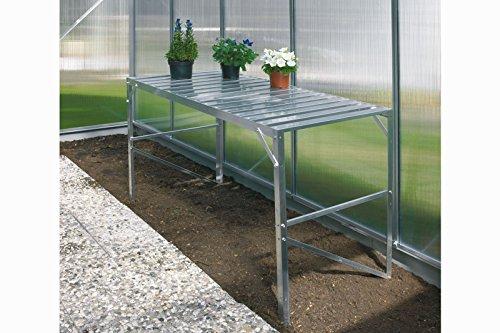Vitavia Aluminium-Tisch 1 Ebene blank eloxiert