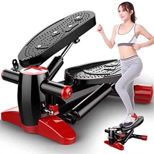 DX Mini Crosstrainer Crosstrainer met anti-slip pedaal, HD-display, stil, voor kantoor en thuis