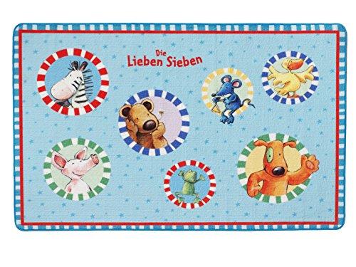 Unbekannt Die Lieben Sieben Kinderteppich, Blau