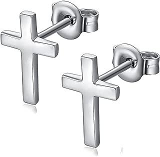Fashion Sterling Silver Cross Dangle Earrings