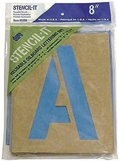 DURO by Graphic Products Stencil-It Oil Board Stencil Set, 8