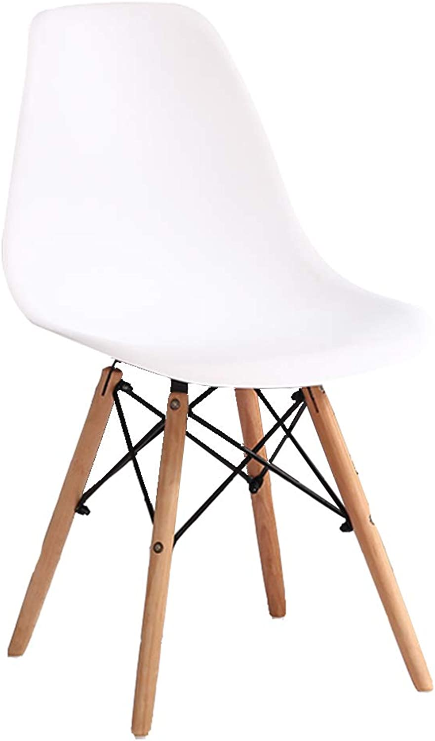 CAIJUN Chair Multipurpose Assembly Solid Plastic Seat Solid Wood Stool Legs Non-Slip Modern Simple Fashion (color   White, Size   41x39x81cm)
