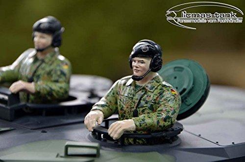 Leopard Panzer Bundeswehr Besatzung handbemalt Resin 1:16 licmas-tank