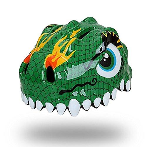 ESASAM 3D Design Dinosaur Infant/Toddler Bike Helmets for Kids (Green)