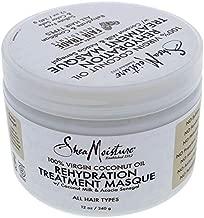 Shea Moisture 100 Percent Virgin Coconut Oil Rehydration Treatment Masque for Unisex Masque, 12 Ounce
