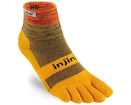 Injinji Trail Mini-Crew Xtralife Midweight Socken Marigold Schuhgröße L | EU 44,5-47 2021 Laufsocken