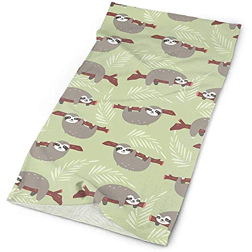 ZSMJ Corbata, pasamontañas, bandana multifuncional, polaina para el cuello, turbante elástico, bufanda de perezosos de la selva, 50 x 25 cm, pañuelo deportivo para la cabeza