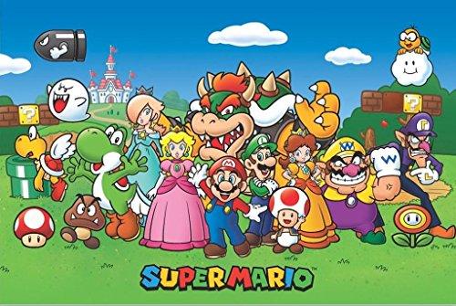 Nintendo Close Up Super Mario Poster Charaktere (91,5 cm x 61 cm)
