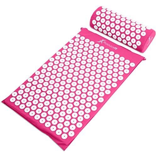 ProsourceFit Acupressure Mat and Pillow Set - Pink