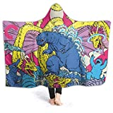 Ultra Soft Light Weight Hooded Blanket, Wearable Hood Throw Blankets Wrap,Comfy Fluffy Quilt for Bed Couch Sofa Living Room Picnic Suitable All Seasons 80'x60'