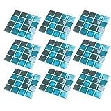 HEALLILY 15 Pzas Cocina Mosaico Azulejo Adhesivo DIY Auto Adhesivo 3D Cristal Azulejo contra Salpicaduras Pegatinas Protector de Pared Azulejo Calcomanía para El Hogar Cocina Baño Estilo 5