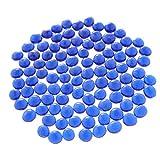 Baoblaze Cuentas de Mármol de Cristal 100pcs para Acuario Azul Oscuro