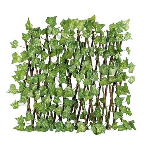 KKmoon Plantas Hiedra Artificial Enredaderas Artificiales Verde Hojas de Seda Guirnalda Decorativo,...