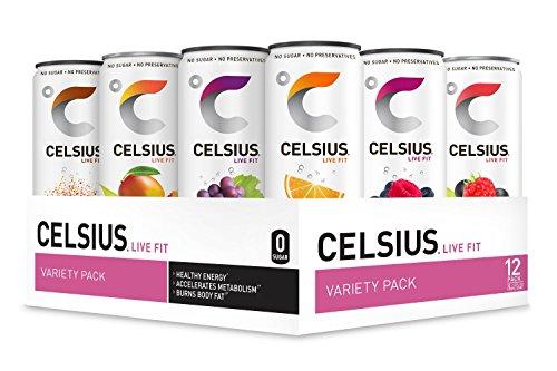 CELSIUS Fitness Energy Drink, 12 Fl Oz, Standard Variety Pack (Pack of 12)