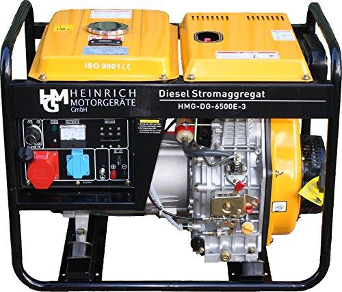 Diesel Stromaggregat HMG-DG-6500E3 Diesel Stromerzeuger 5,5kW 400V 230V