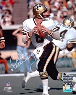 Archie Manning Autographed/Signed New Orleans Saints 8x10 NFL Photo - White Jersey