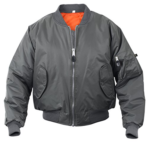 Rothco MA-1 Flight Jacket, Gun Metal Grey, XL