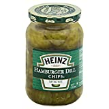 Heinz Hamburger Dill Chips Slices, 16 Ounces (12 Jars)