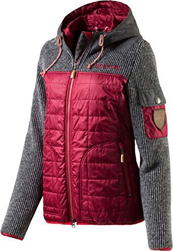 Almgwand W Hochnissl Grau, Damen Mantel, Größe 42 - Farbe Grau - Rot - Grau