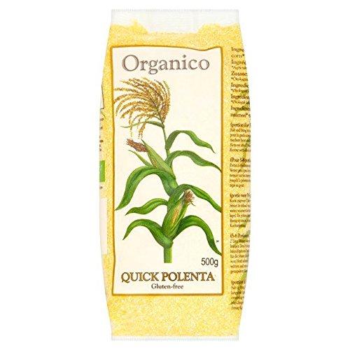 Organico Organic Gluten Free Quick Polenta (Corn Meal) - 500g (1.1lbs)