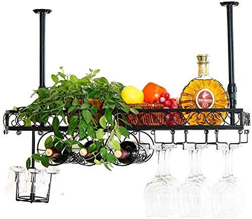 Botellero rústico apilable, Organización almacenaje de la cocina de techo Vino Bastidores...