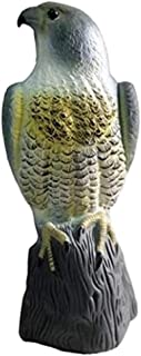 تمثال البومة من اف جي سكاركرو مع تمثال رأس دوار، طارد للآفات، تحكم في الطيور، واقيات للحدائق، البوم المزيف.