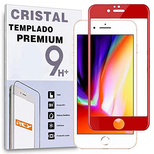 Protector de Pantalla Curvo para iPhone 6 / iPhone 6S, Rojo, Cristal Vidrio Templado Premium, 3D / 4D / 5D