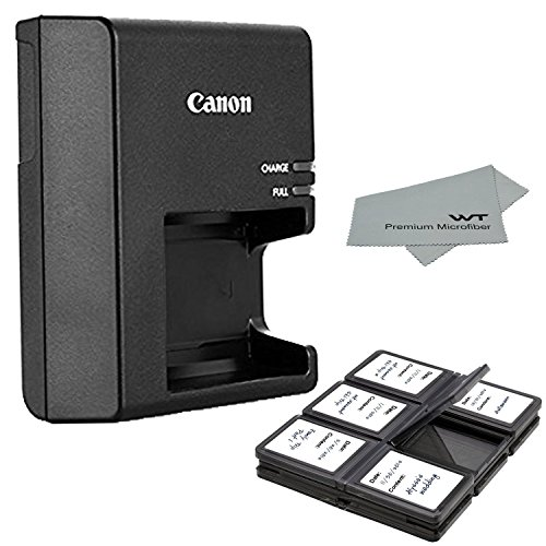 Canon Replacement LC-E10 Charger for LP-E10 Li-ion Battery Compatible with Canon EOS Rebel T3, T5, T6, T7, EOS 1100D, EOS 1200D, EOS 1300D, EOS 3000D, EOS 4000D, EOS Kiss X50, Kiss X70 + Bonus Items!