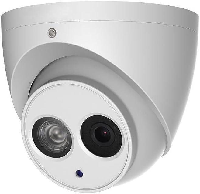 Dahua IPC-HDW4831EM-ASE-0280B - Cámara Domo Profesional 4Mpx IP POE   Iluminación infarroja y Micrófono   Exterior