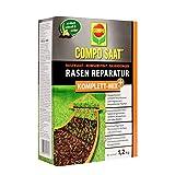 COMPO SAAT riparazione completa di tappeto erboso +, semi di erba, substrato di germi, fertilizzante per prato a lungo termine e attivatore del suolo, 1,2 kg (6 m²)