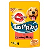 Tasty Bites Cheesy carne y queso de 140g para educar | [Pack de 6]