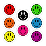 VMSTYLES (3 PCs/Pack) 90â€S Smiley Face Pack 3x4 Inch Die-Cut Stickers Decals for Laptop Window Car Bumper Helmet Water Bottle