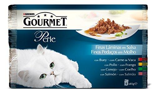 Gourmet - Perle Finas Láminas en Salsa Pack Surtido sobres 4 x 85 g - 340 g ⭐