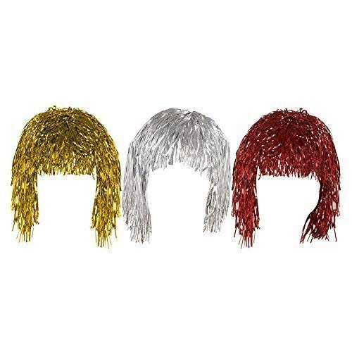 Set of 3 Gold Silver & Red Adult...